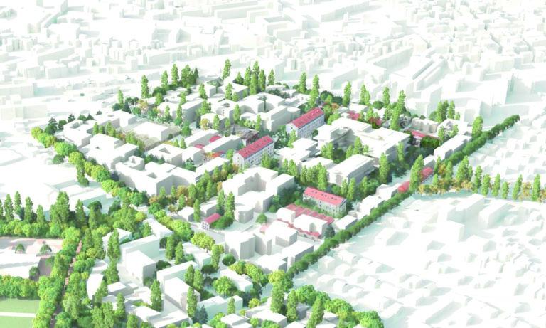 Plan de masse du quartier